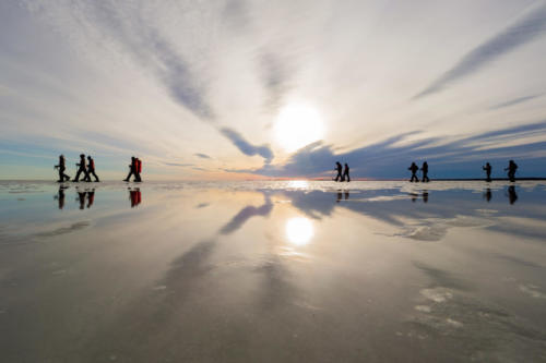 Snowshoeing on the Baltic Sea