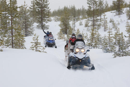Accessible snowmobile safari